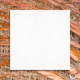 Blank white paper on coconut spathe background Royalty Free Stock Photo