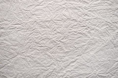 Blank white paper with crinkled texture Stock Image