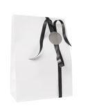 Blank white paper gift bag Royalty Free Stock Photo