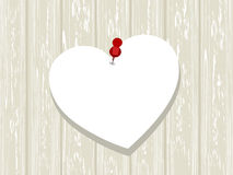 Blank white paper in heart shape Royalty Free Stock Image