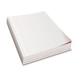 Blank white paper magazine Stock Photography