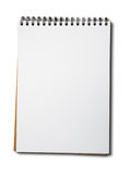 Blank white paper notebook Stock Images