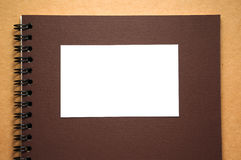Blank white paper on notebook Royalty Free Stock Photo