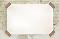 Blank white paper on old paper Royalty Free Stock Images