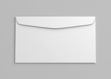 Blank white paper sleeve back view on. 3d rendering Stock Images