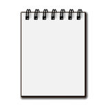 Blank white paper spiral notebook Stock Photography
