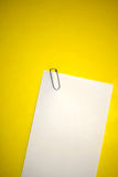 Blank white paper with staple Royalty Free Stock Photos