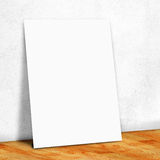 blank white paper on the white wall and the wood parquet floor,Mock up for your content royalty free stock photos