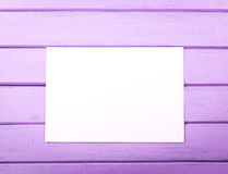 Blank white paper on wooden planks. For menu, wishes, notice, slogans stock images