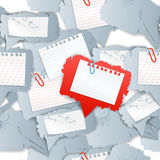 Blank white papers Royalty Free Stock Image