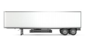 Free Blank White Parked Semi Trailer, Side View Stock Photo - 31498000