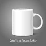 Blank white photo realistic isolated on gray cup,. For branding and your design. Vector illustration Royalty Free Stock Photos