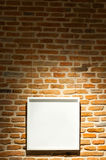 Blank white picture frame Stock Photography