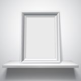 Blank White Picture Frame Stock Image