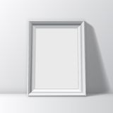 Blank White Picture Frame Stock Photo