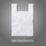 Blank white plastic bag with place for your design. And branding. Vector illustration Royalty Free Stock Image
