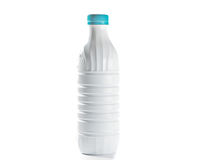 Blank White Plastic Bottle With Lid Royalty Free Stock Photos
