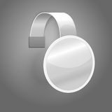 Blank white plastic wobbler isolated on grey Stock Photography