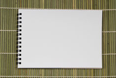 Blank white pond paper realistic spiral notepad notebook on ligh Royalty Free Stock Photography