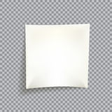 Blank white post it note. With shadow on transparent background Stock Photo