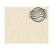 Blank white post stamp. Vector illustration of a blank white post stamp on white background Royalty Free Stock Image