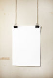 Blank white poster Stock Photography
