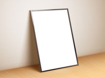 Blank White Poster Template Royalty Free Stock Photography