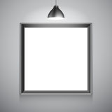 Blank White Poster Template Stock Images