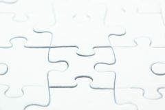 Blank white puzzle Royalty Free Stock Images