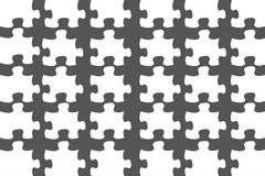 Blank White Puzzle Detached Royalty Free Stock Photo
