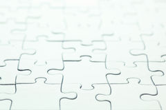 Blank white puzzle Stock Photo