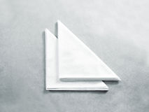 Blank white restaurant napkin mock up, . Stock Photo