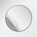 Blank, white round promotional sticker Royalty Free Stock Images