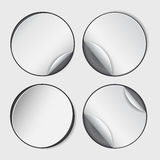 Blank, white round promotional sticker Royalty Free Stock Image