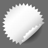 Blank, white round promotional sticker Stock Image
