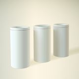 Blank white round tube or box Royalty Free Stock Photography