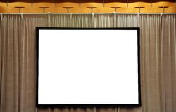 Blank White Screen for Presentation Royalty Free Stock Photos