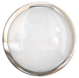 Blank White Shiny Round Button Copy Space Royalty Free Stock Photography