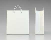 Blank white shopping paper bags set Stock Image
