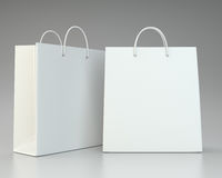 Blank white shopping paper bags set Stock Photography