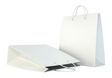 Blank white shopping paper bags set Royalty Free Stock Image