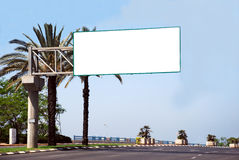 Blank white sign. With a copy space area Royalty Free Stock Images
