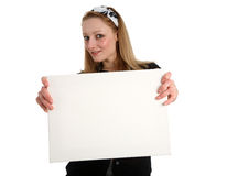 Blank white sign Royalty Free Stock Photos
