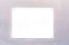 Blank white sign board Stock Photography