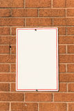 Blank White Sign Stock Images