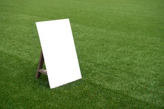 Blank white sign Royalty Free Stock Photo