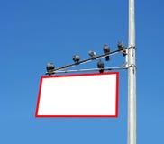 Blank white sign Stock Photo