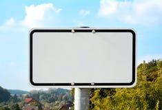 Blank white sign Royalty Free Stock Photos