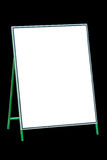 Blank white signboard isolated on black. Royalty Free Stock Photos