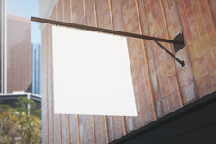 Blank white signboard Stock Photography